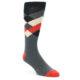 Image of Grey Black Red White Diamond Stripe Men's Dress Socks Socks (side-1-front-01)