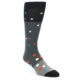Image of Grey Black Polka Dot Men's Dress Socks Socks (side-1-front-01)