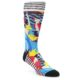 Image of Multi-Color Bird Pattern Men's Casual Socks (side-1-front-01)