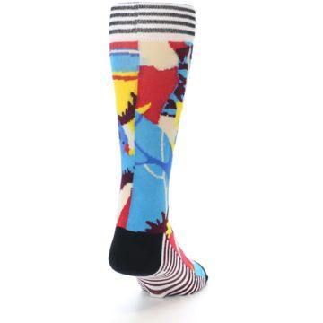 Image of Multi-Color Bird Pattern Men's Casual Socks (back-19)