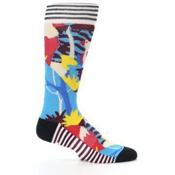Image of Multi-Color Bird Pattern Men's Casual Socks (side-1-24)