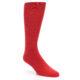 Image of Red Solid Color Men's Dress Socks (side-1-front-01)