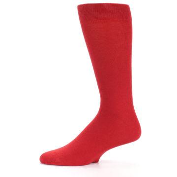 Image of Red Solid Color Men's Dress Socks (side-2-11)