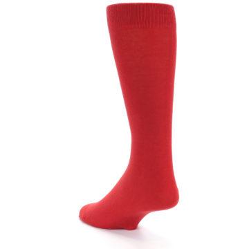 Image of Red Solid Color Men's Dress Socks (side-2-back-15)