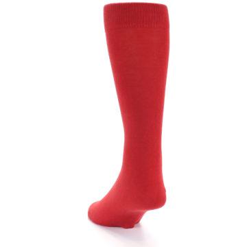 Image of Red Solid Color Men's Dress Socks (side-2-back-16)