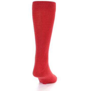 Image of Red Solid Color Men's Dress Socks (back-19)
