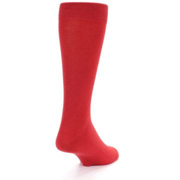 Image of Red Solid Color Men's Dress Socks (side-1-back-20)