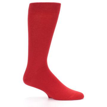 Image of Red Solid Color Men's Dress Socks (side-1-25)