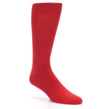 Image of Red Solid Color Men's Dress Socks (side-1-27)