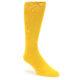 Image of Golden Yellow Solid Color Men's Dress Socks (side-1-front-01)