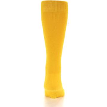 Image of Golden Yellow Solid Color Men's Dress Socks (back-18)