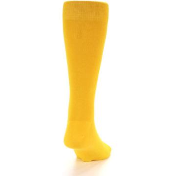 Image of Golden Yellow Solid Color Men's Dress Socks (back-19)