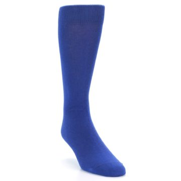 Image of Midnight Blue Solid Color Men's Dress Socks (side-1-front-02)