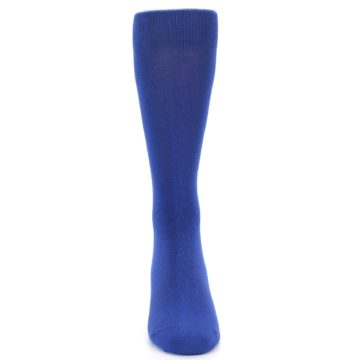 Image of Midnight Blue Solid Color Men's Dress Socks (front-04)