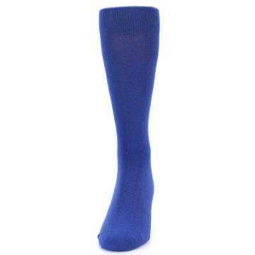 Image of Midnight Blue Solid Color Men's Dress Socks (front-05)