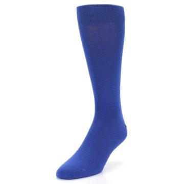 Image of Midnight Blue Solid Color Men's Dress Socks (side-2-front-07)