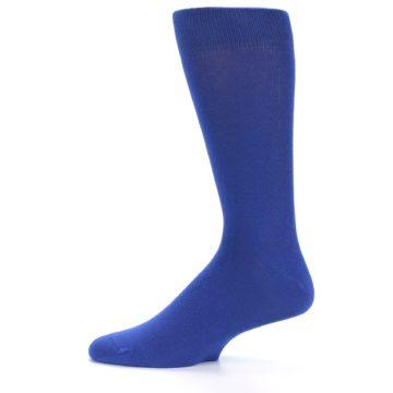 Image of Midnight Blue Solid Color Men's Dress Socks (side-2-11)
