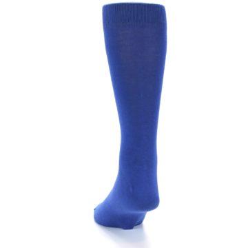 Image of Midnight Blue Solid Color Men's Dress Socks (side-2-back-16)