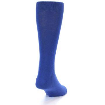 Image of Midnight Blue Solid Color Men's Dress Socks (back-19)
