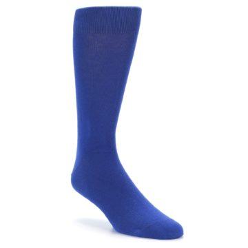 Image of Midnight Blue Solid Color Men's Dress Socks (side-1-27)