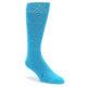 Image of Malibu Blue Solid Color Men's Dress Socks (side-1-front-01)