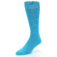 Image of Malibu Blue Solid Color Men's Dress Socks (side-2-front-08)