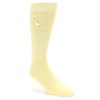 Image of Pale Canary Yellow Solid Color Men's Dress Socks (side-1-front-01)