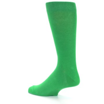 Image of Kelly Green Solid Color Men's Dress Socks (side-2-13)
