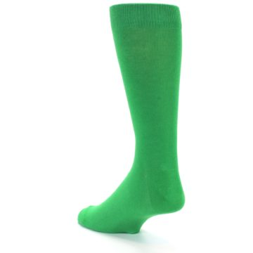 Image of Kelly Green Solid Color Men's Dress Socks (side-2-back-14)