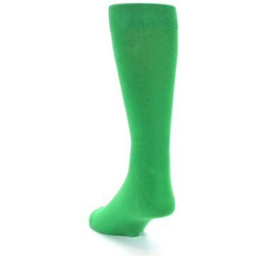 Image of Kelly Green Solid Color Men's Dress Socks (side-2-back-15)