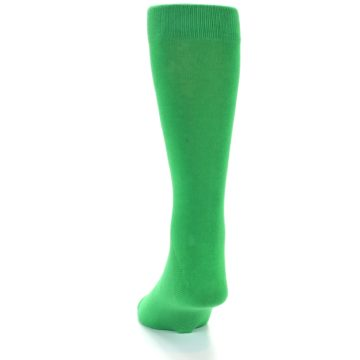 Image of Kelly Green Solid Color Men's Dress Socks (side-2-back-16)