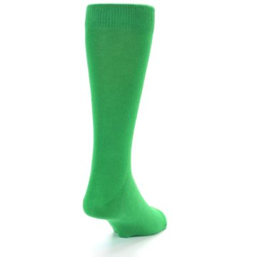 Image of Kelly Green Solid Color Men's Dress Socks (back-19)