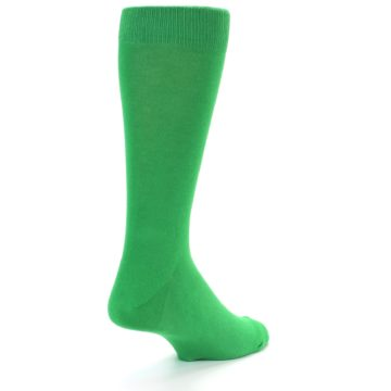Image of Kelly Green Solid Color Men's Dress Socks (side-1-back-20)