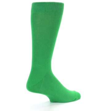 Image of Kelly Green Solid Color Men's Dress Socks (side-1-back-21)