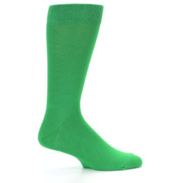 Image of Kelly Green Solid Color Men's Dress Socks (side-1-23)