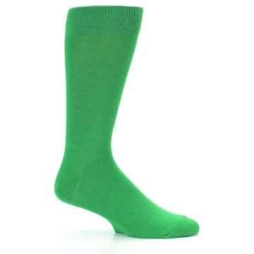 Image of Kelly Green Solid Color Men's Dress Socks (side-1-24)