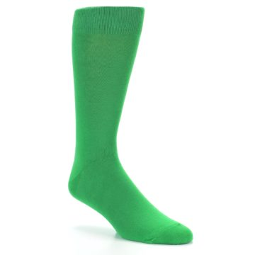 Image of Kelly Green Solid Color Men's Dress Socks (side-1-26)