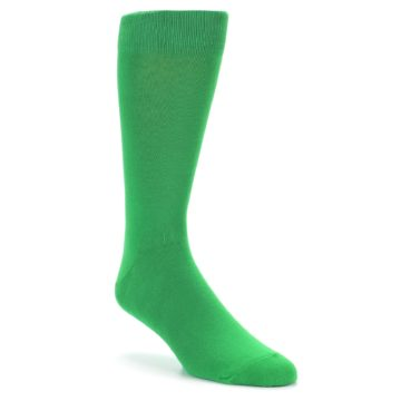 Image of Kelly Green Solid Color Men's Dress Socks (side-1-27)