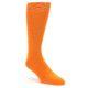 Image of Tangerine Orange Solid Color Men's Dress Socks (side-1-front-01)