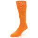 Image of Tangerine Orange Solid Color Men's Dress Socks (side-2-front-08)