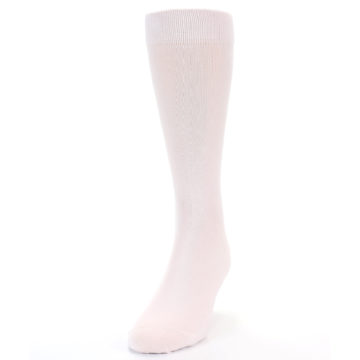 Image of Petal Pink Blush Solid Color Men's Dress Socks (side-2-front-06)