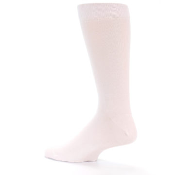 Image of Petal Pink Blush Solid Color Men's Dress Socks (side-2-13)
