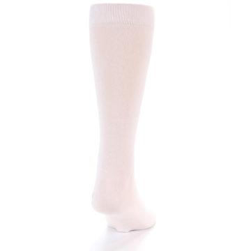 Image of Petal Pink Blush Solid Color Men's Dress Socks (back-19)