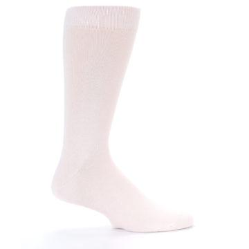 Image of Petal Pink Blush Solid Color Men's Dress Socks (side-1-24)
