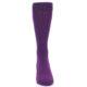 Image of Plum Purple Solid Color Men's Dress Socks (front-04)