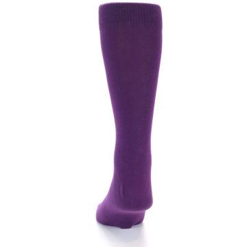 Image of Plum Purple Solid Color Men's Dress Socks (back-17)