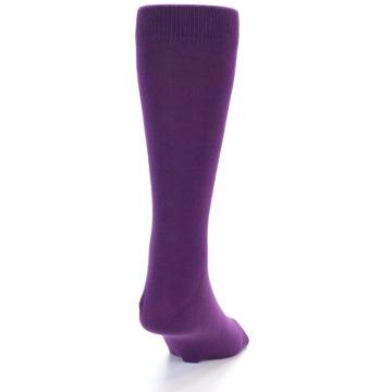 Image of Plum Purple Solid Color Men's Dress Socks (back-19)