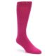 Image of Watermelon / Fuchsia Solid Color Men's Dress Socks (side-1-front-01)