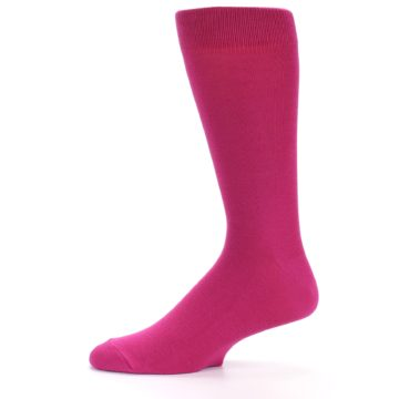 Image of Watermelon / Fuchsia Solid Color Men's Dress Socks (side-2-11)
