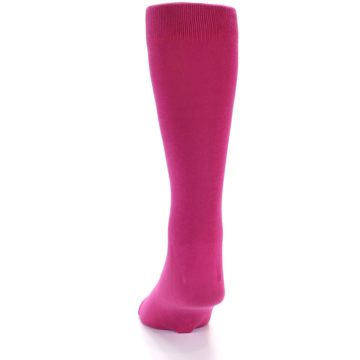 Image of Watermelon / Fuchsia Solid Color Men's Dress Socks (back-17)